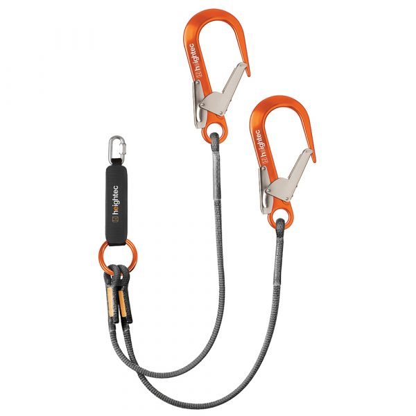 ELITE Twin Lanyard - oval with energy absorber - heightec