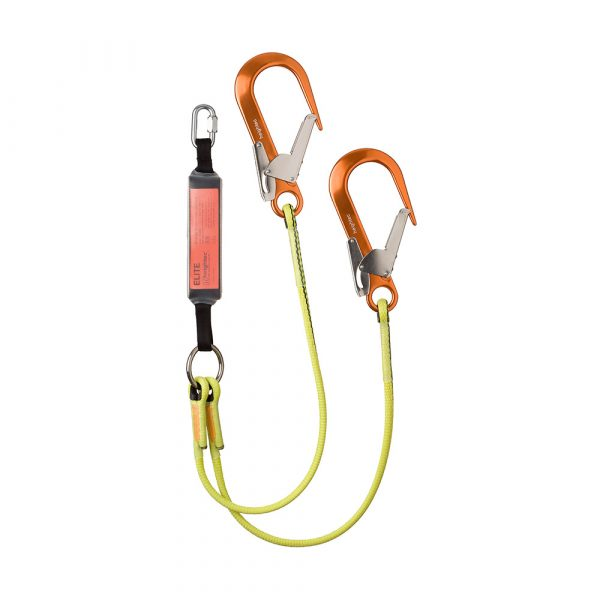 ELITE twin lanyard- oval - scaff hook