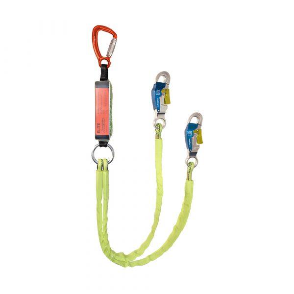 L2T150B ELITE twin lanyard 1.5m - tri-act - steplock hooks
