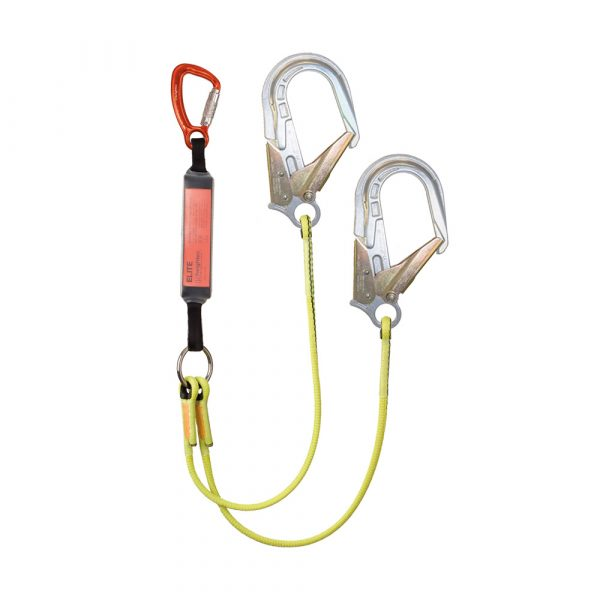 ELITE twin lanyard 1.6m - tri act - CE-ANSI hooks