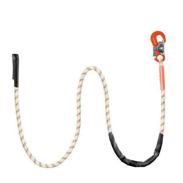 Piranha Adjustable Lanyard Replacement Rope - safety hook