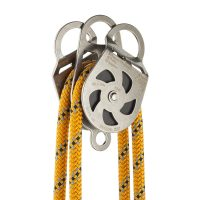 P05 Twin Stainless Steel Pulley 5cm on rope open