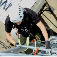 MATS Telecom Climber Using Height Safety & Rescue Equipment - HART